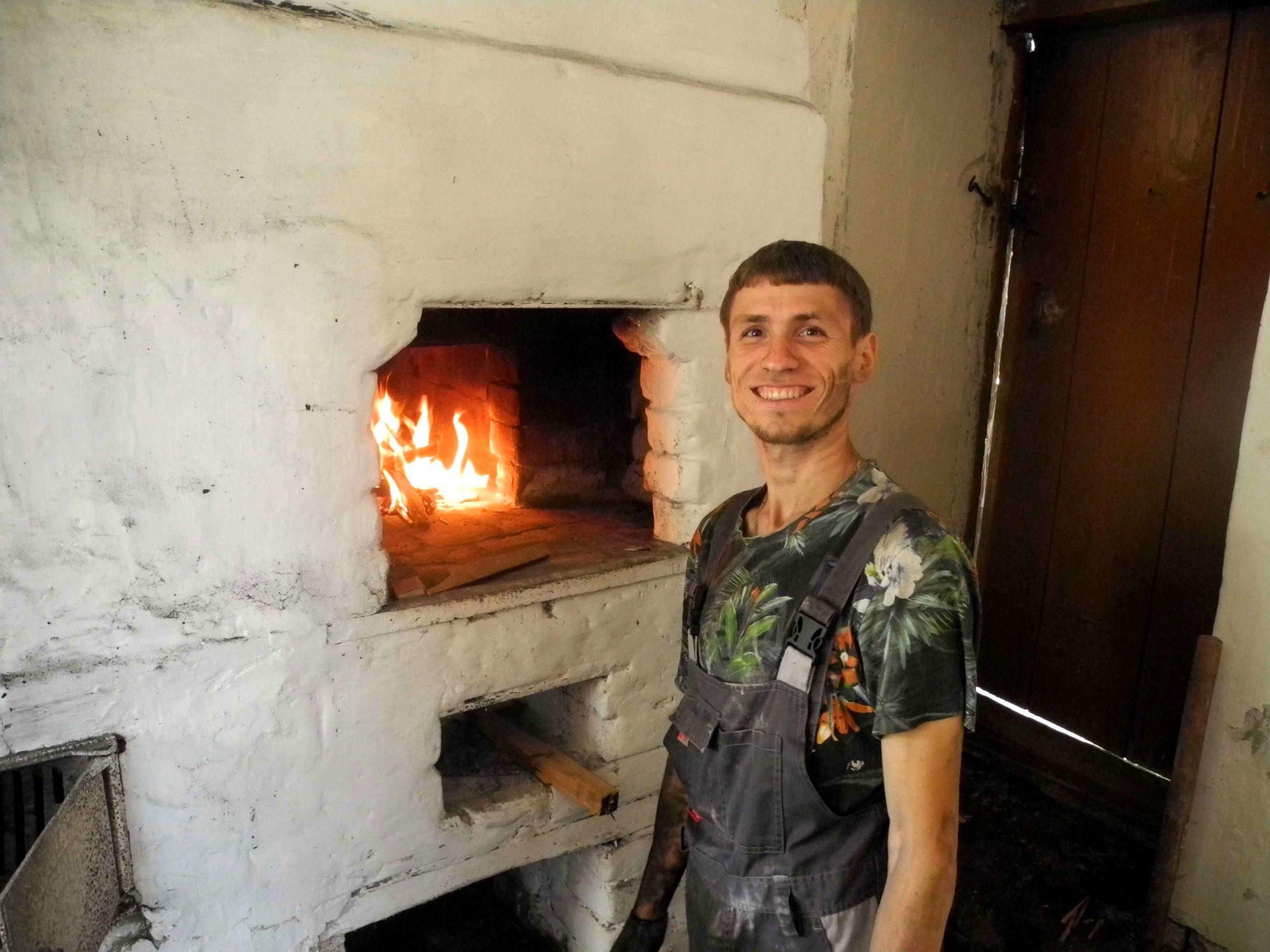 Реставрация русской печки в старом доме