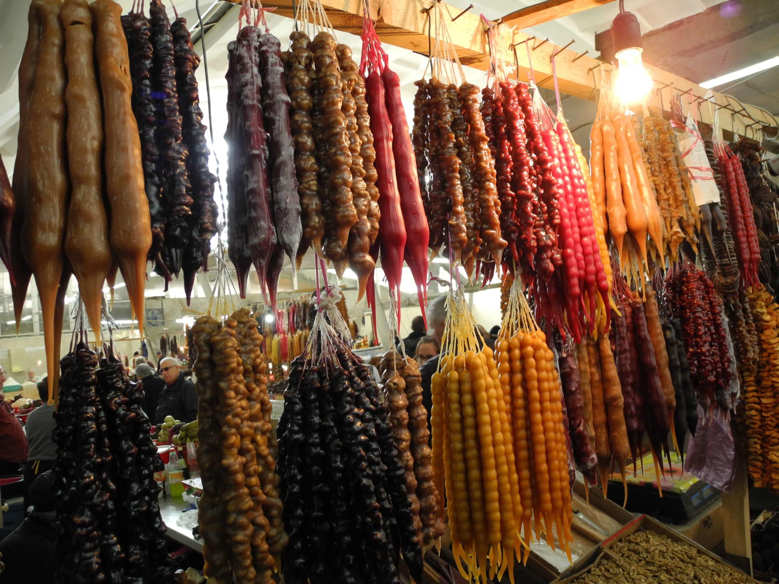 чурчхела на рынке в кутаиси