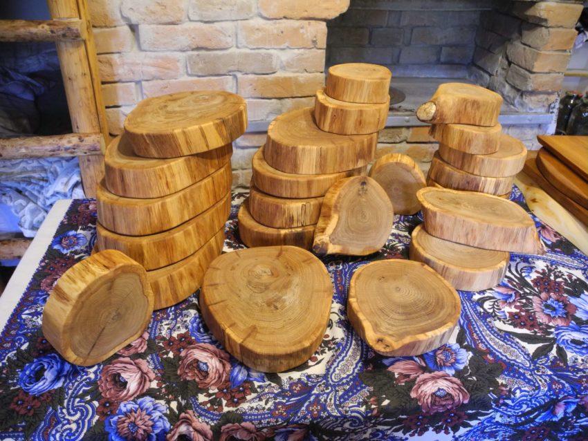 Спилы дерева для декора