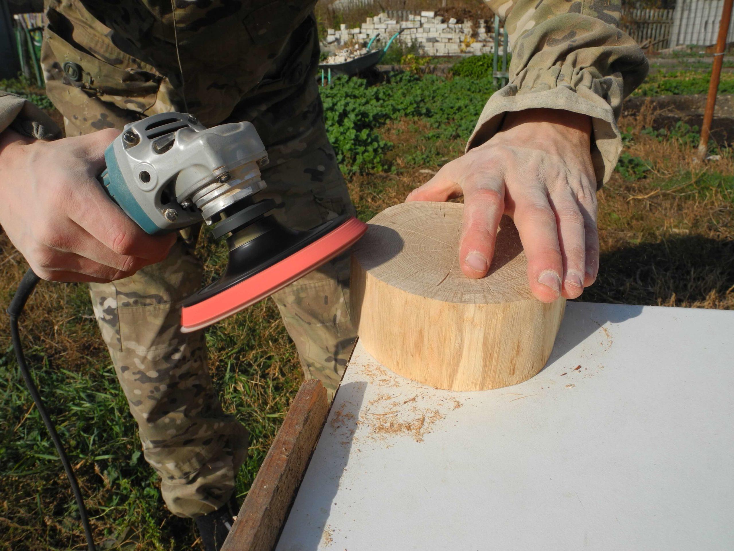 Как делать спилы дерева для декора