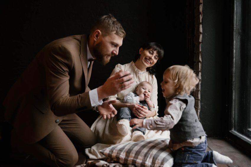 Семейное фото Поляковых