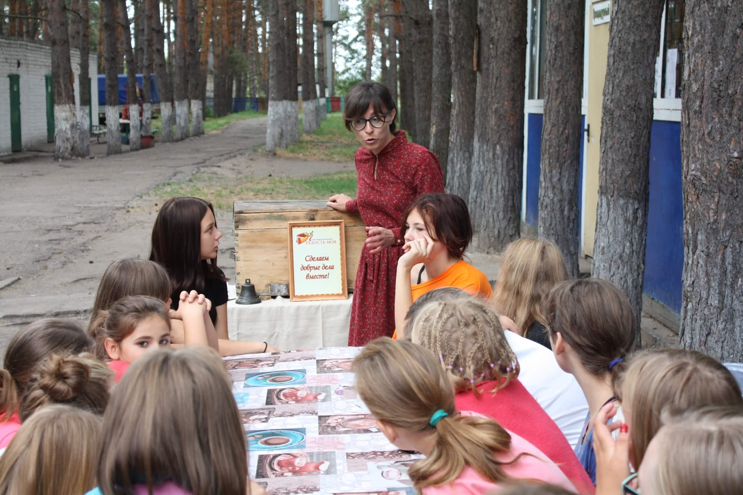 Мастер-класс для детей в летнем лагере
