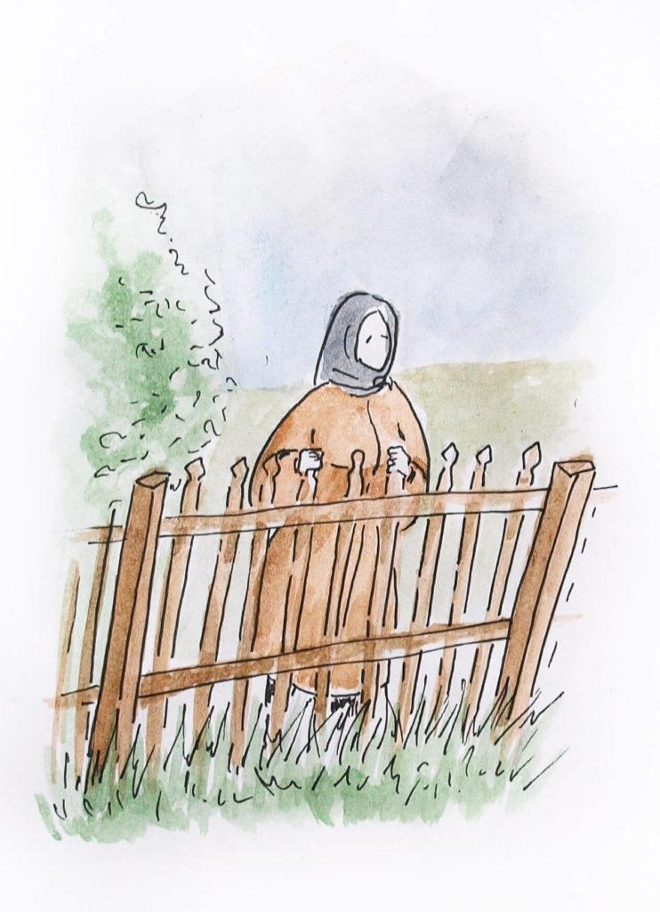 Рассказы про деревню Иллюстрации Старушка