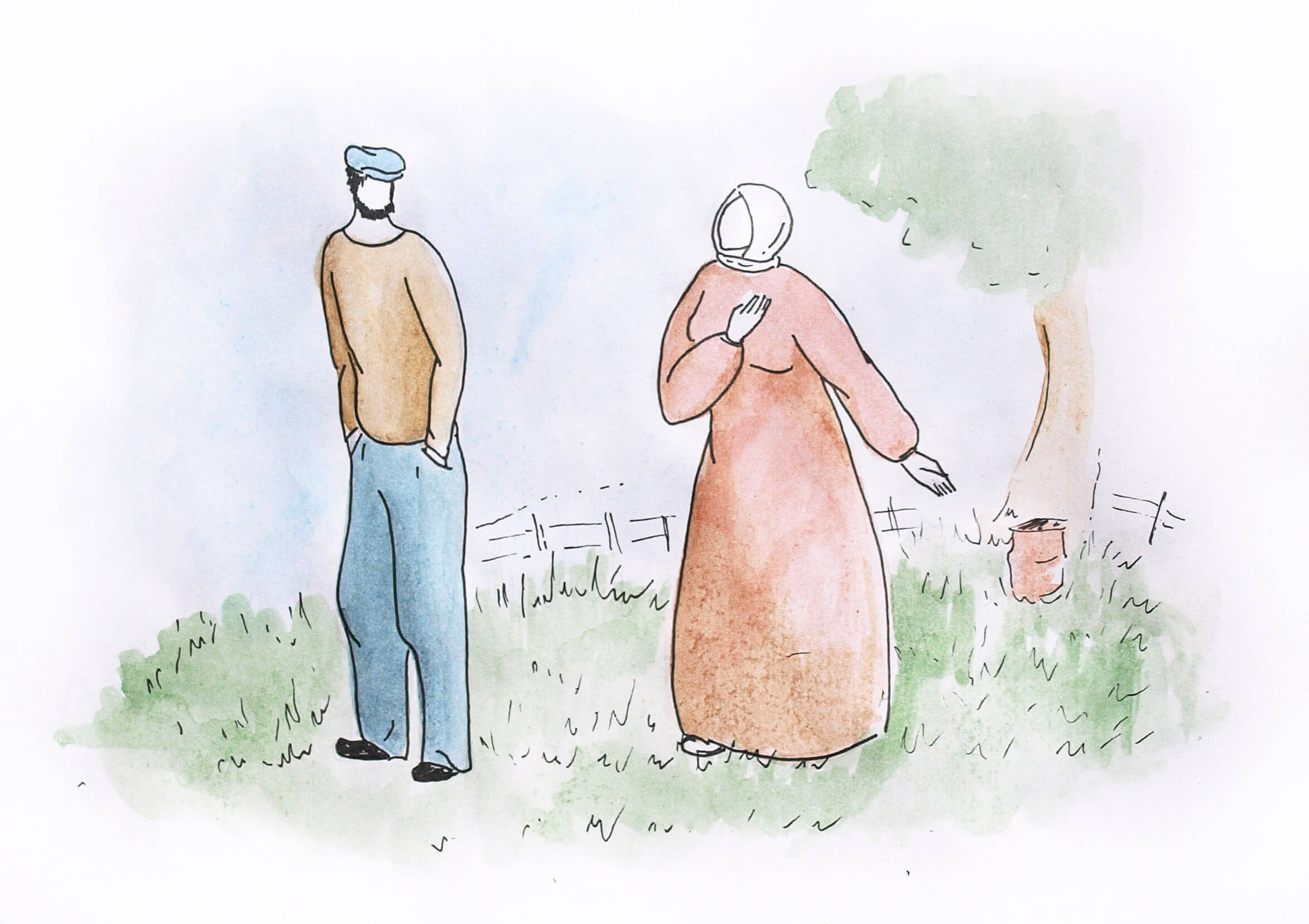 Рассказы про деревню Встань и иди гроб иллюстрации старик со старухой