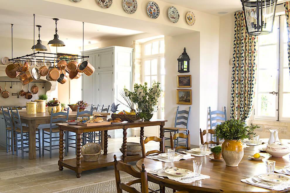Деревенская кухня, интерьер в стиле Прованс