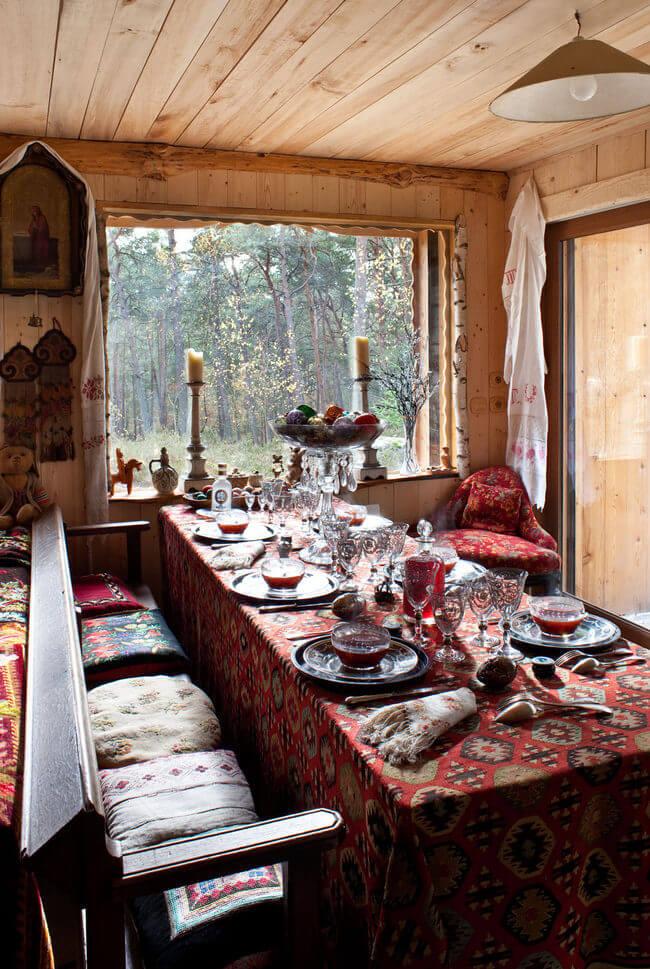 Дизайн деревенского дома внутри (фото)