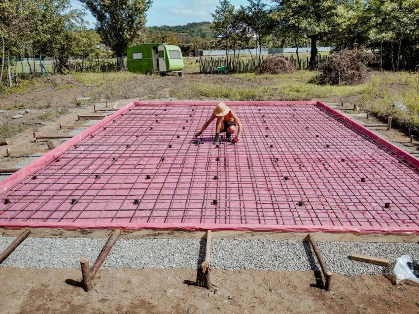 Армирование фундаментной плиты своими руками