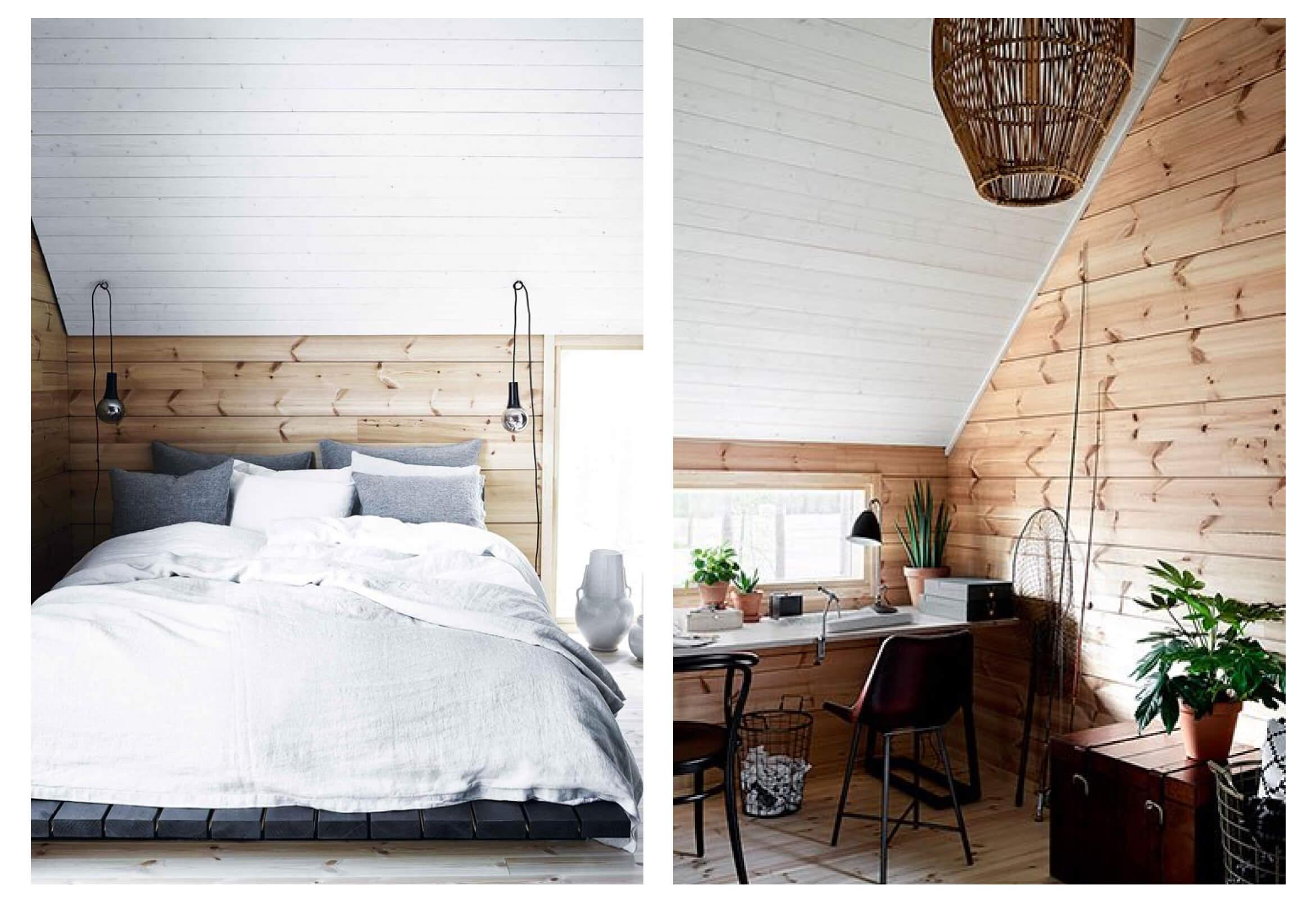 Дизайн деревянного дома из бруса (внутри фото)