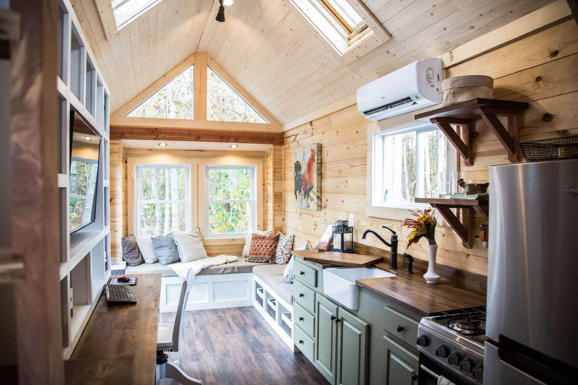 Интерьер деревянного дома (внутри фото)