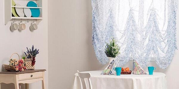 Деревенские шторы для кухни (фото)
